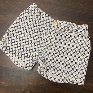 Carter Black & White Pattern Girls Shorts